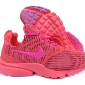 Nike Presto fly hot punch pink blast sneakers